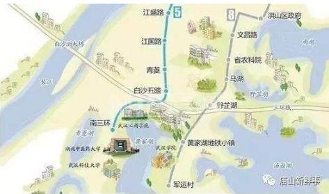 武汉地铁8号线三期站点与线路图