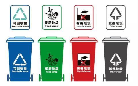 武汉垃圾分类垃圾桶颜色