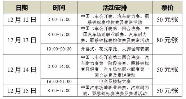 武汉汽车摩托车运动大会2019举办时间