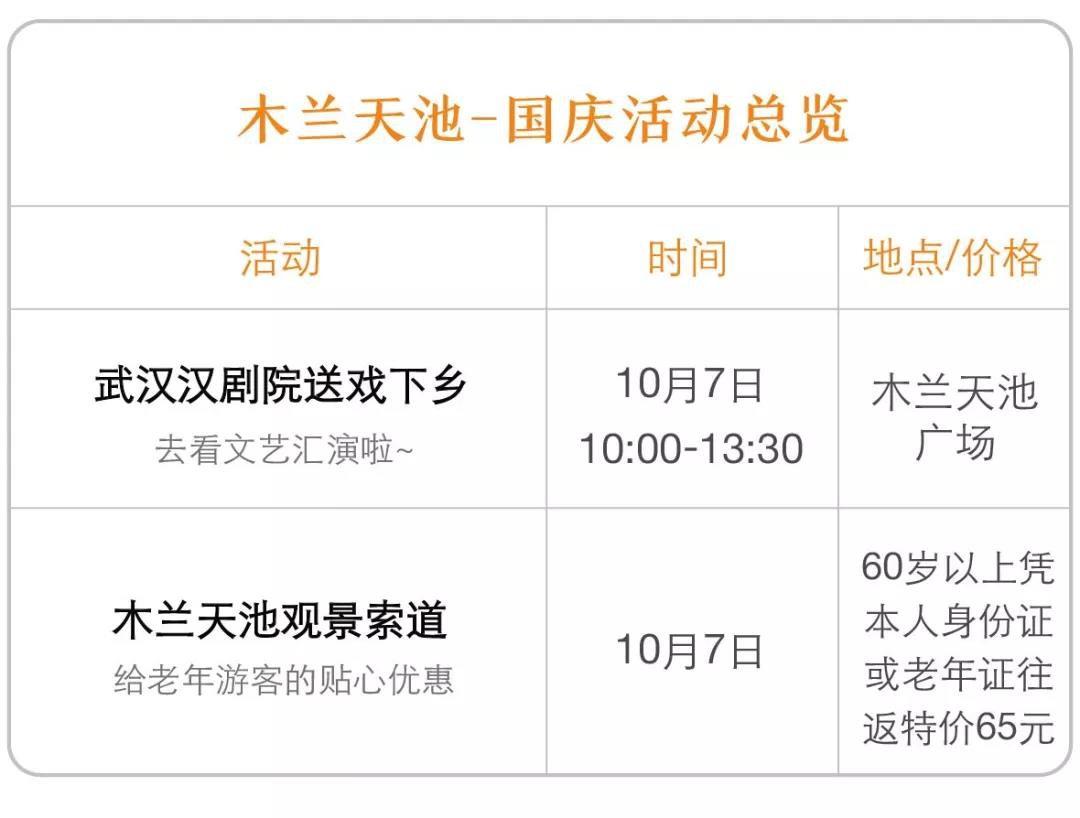 2019武汉国庆和重阳节景点活动合集(时间+活动内容)
