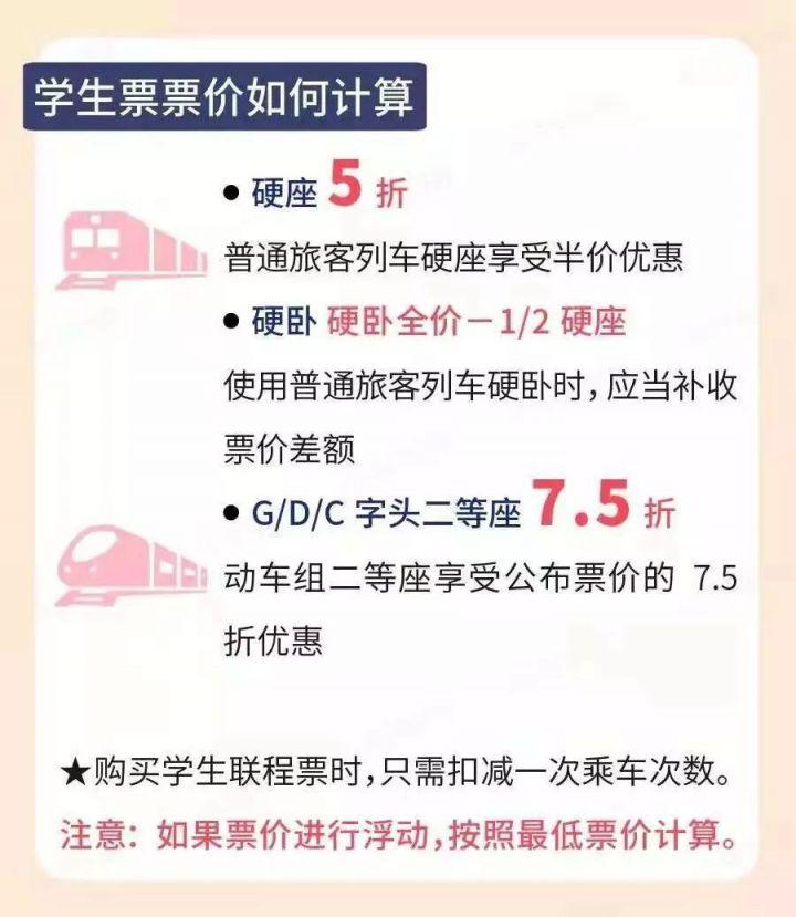 武汉火车学生优惠多少