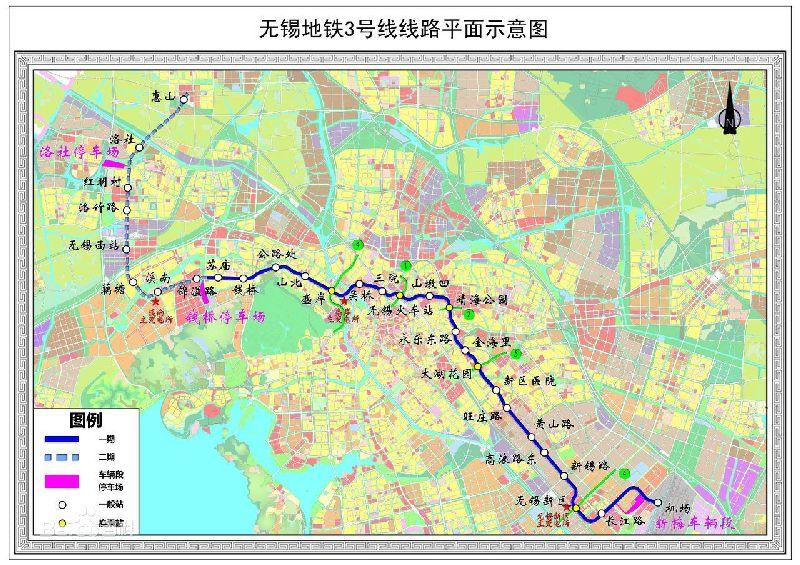 无锡地铁3号线规划图