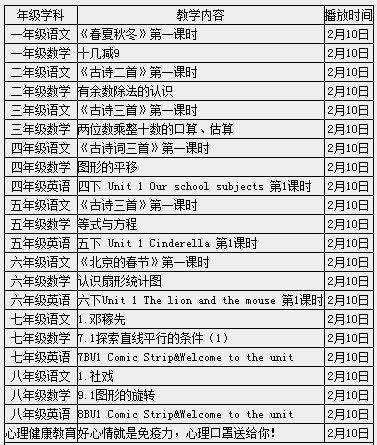 无锡梁溪名师在线课表(持续更新)