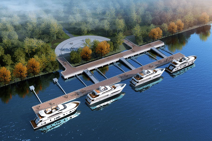 2022年9月江心屿西园新码头建设最新进展