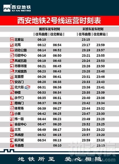 【西 安 地 铁 乘 车 指 南】 - 地铁族 - 西安地铁2号线时刻表.jpg