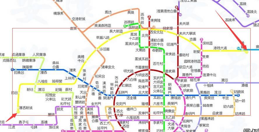 西安地铁13号线最新线路图