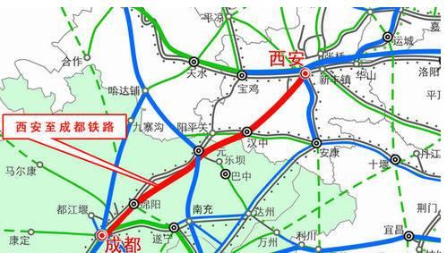 西成高铁线路图