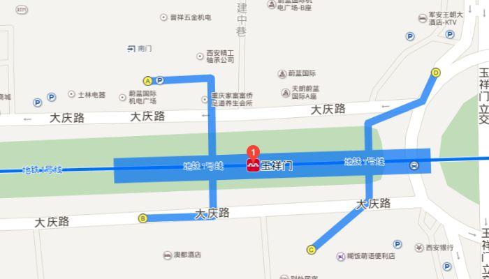 西安地铁7号线换乘站点