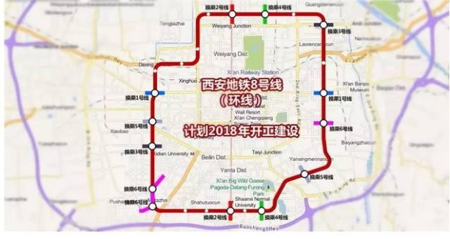 (地铁8号线线路图)-西安地铁8号线换乘站点图片