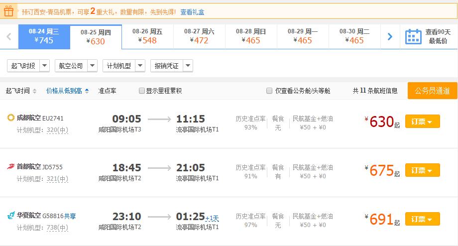 西安到青岛3日游线路推荐