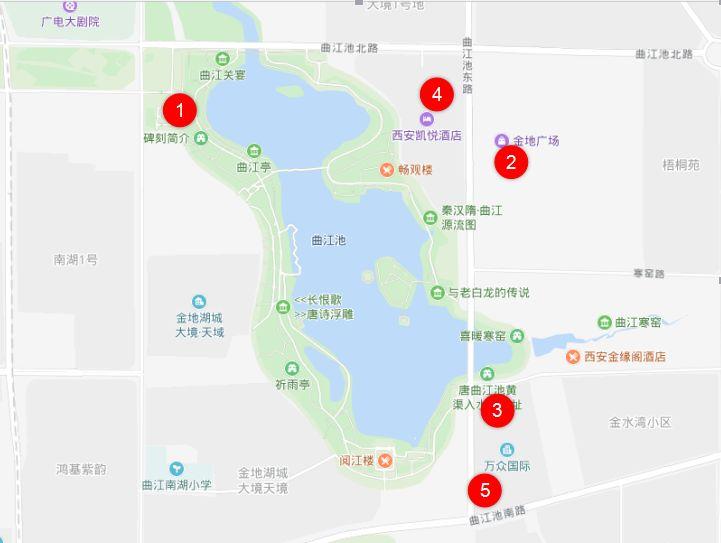 西安曲江新区停车位有哪些