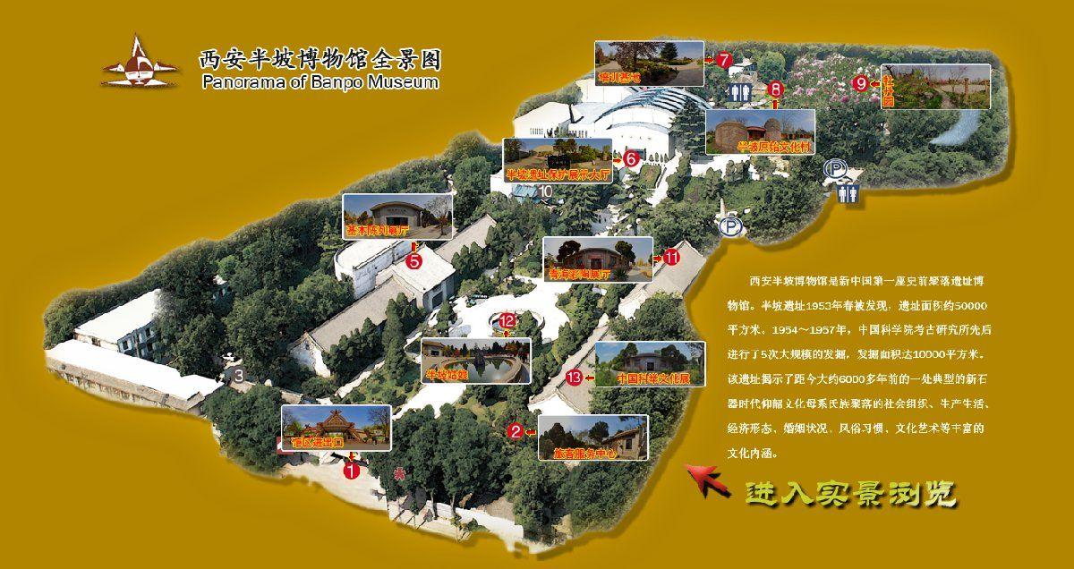 西安半坡博物馆可以线上参观吗