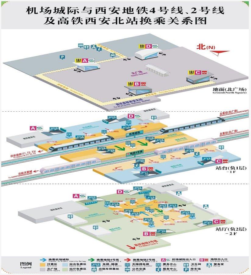 西安机场北客站换乘指南