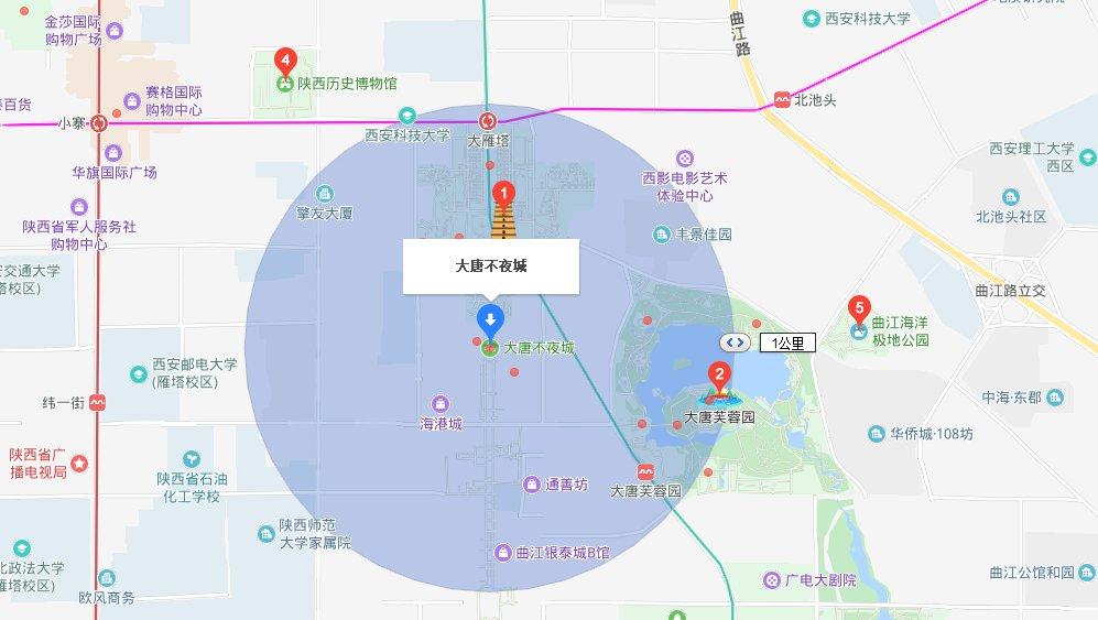 西安大唐不夜城附近景点
