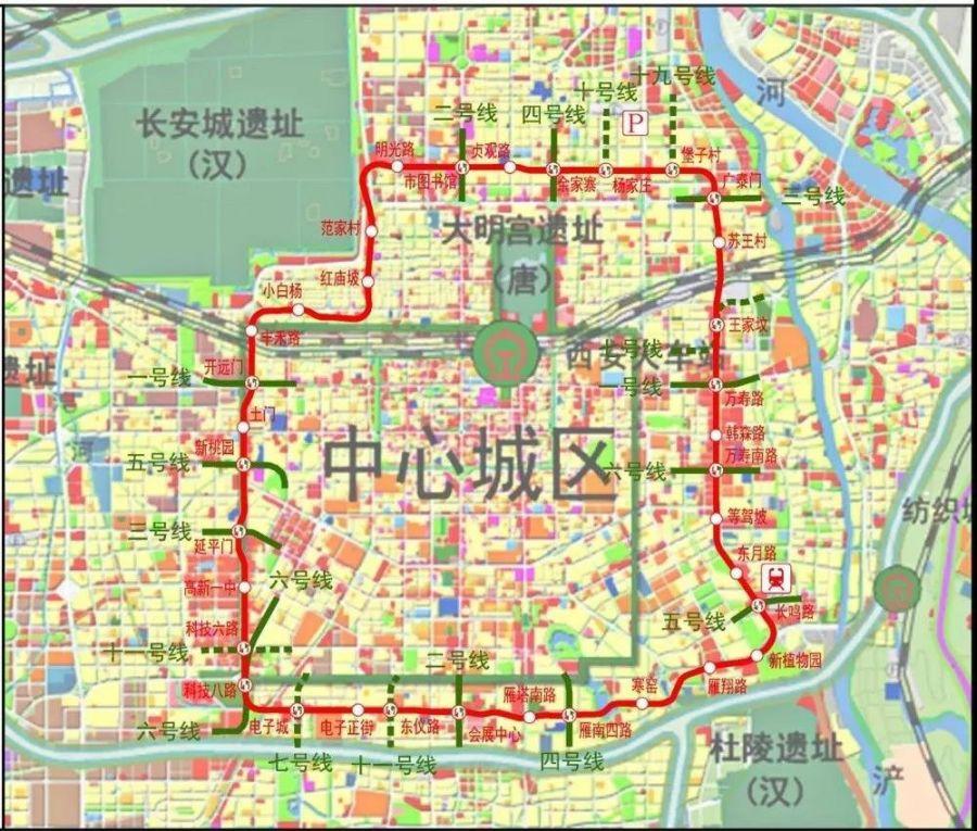 西安城市生态公园地铁几号线经过