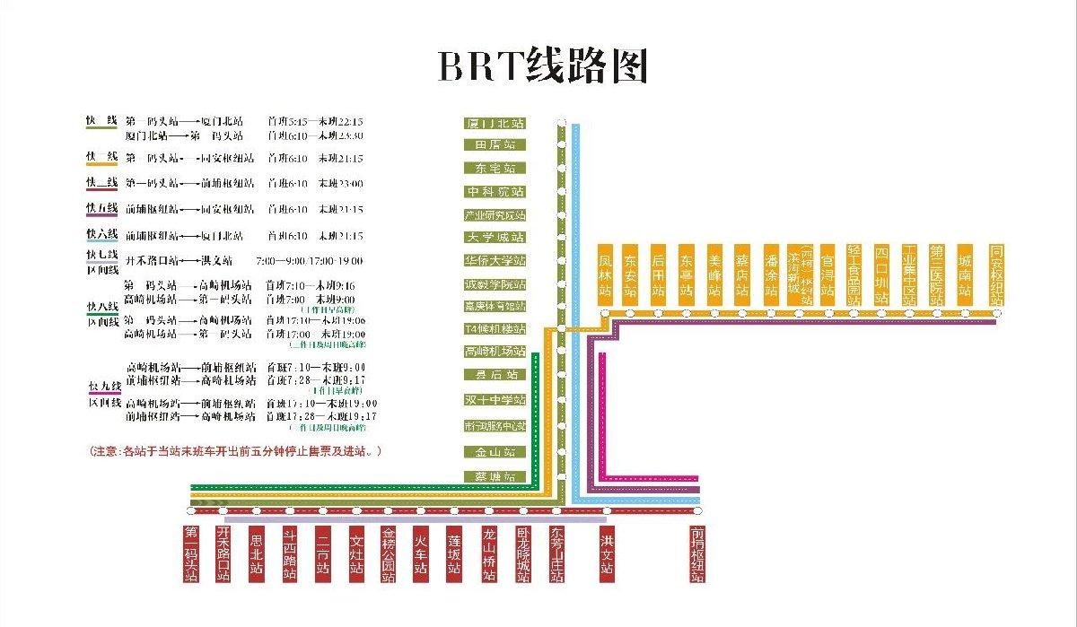 廈門BRT乘車指南 運營時間 站點全攻略