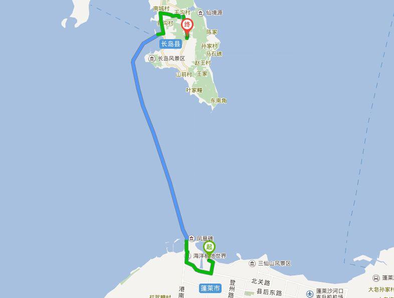 蓬莱阁到长岛怎么走