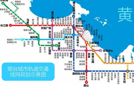 烟台地铁3号线规划图