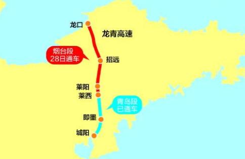 龙青高速龙口至莱西段最新消息(持续更新)