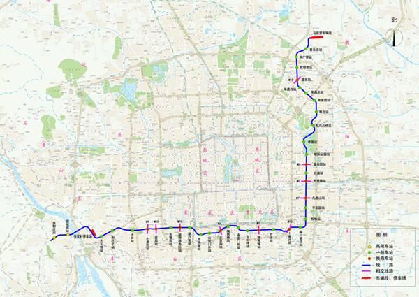 北京地铁14号线中段线路图图片