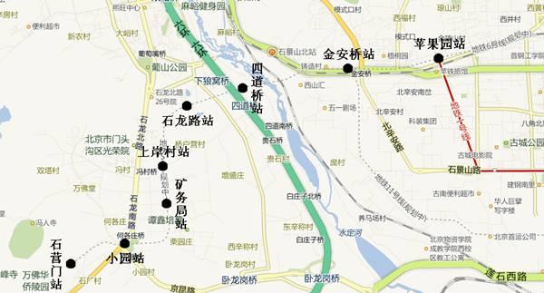 北京地铁S1线磁悬浮线路图图片
