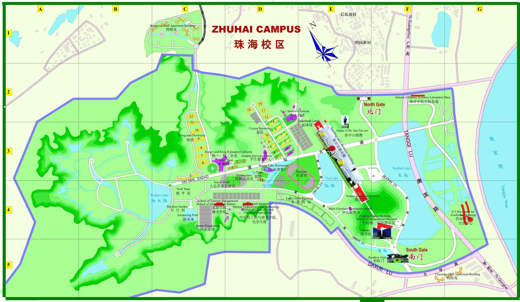 中山大学珠海校区地图