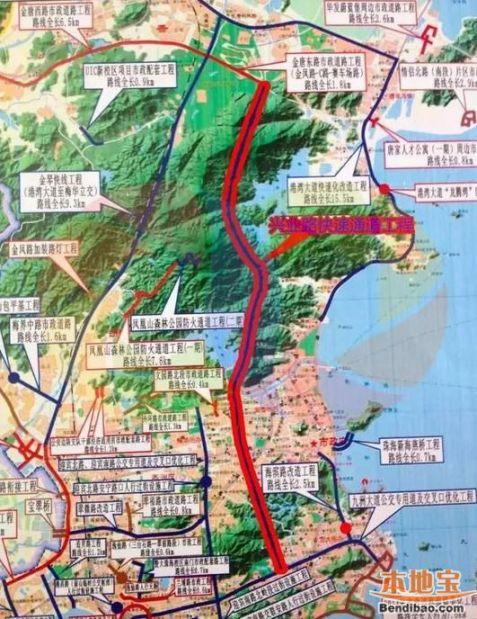 珠海凤凰山路线地图_兴业路快速通道地图走向详情- 珠海本地宝