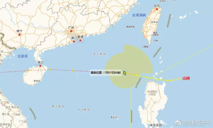 台风山神会在哪里登陆