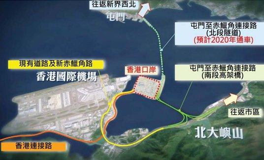 从香港上港珠澳大桥指引(路线 入口 方式)