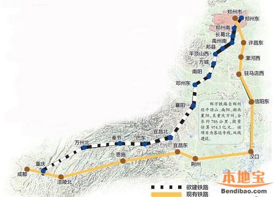 郑万高铁最新线路图