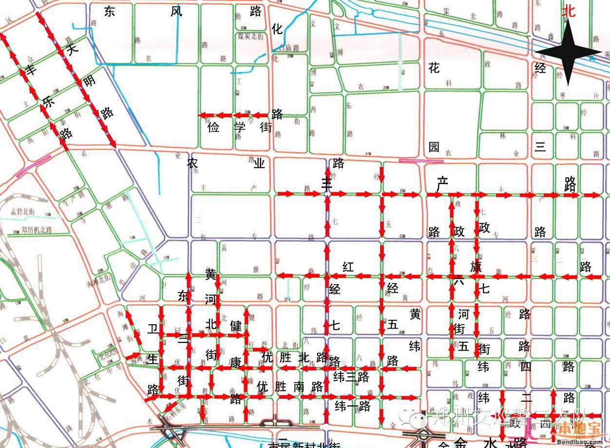 2015郑州市最新单行道地图