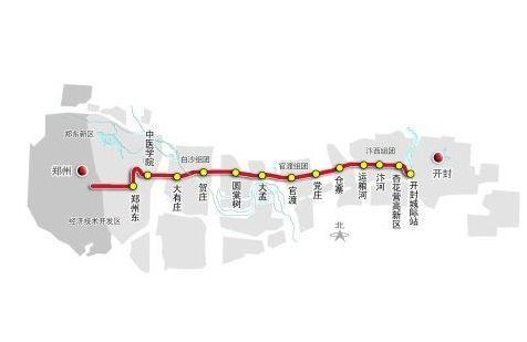 郑开城铁路线图