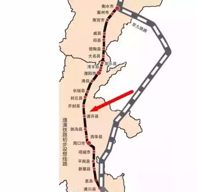 濮潢铁路最新线路图