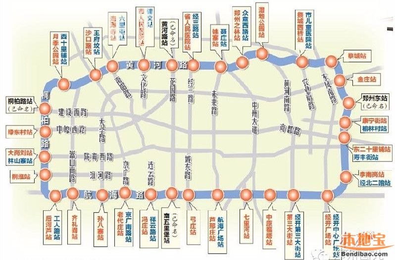 郑州地铁5号线线路走向