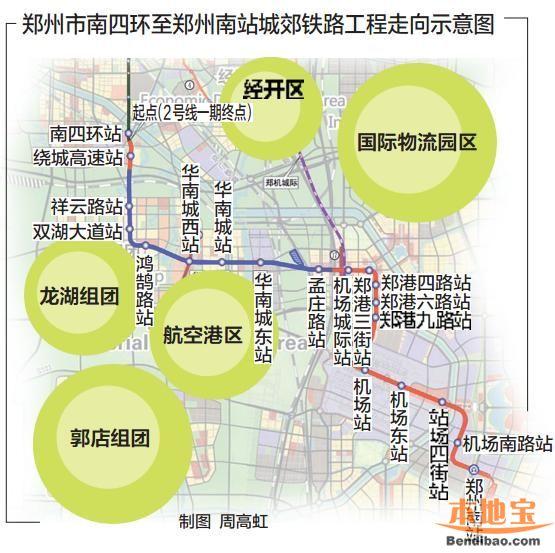 郑州地铁2号线站点(名称、位置)