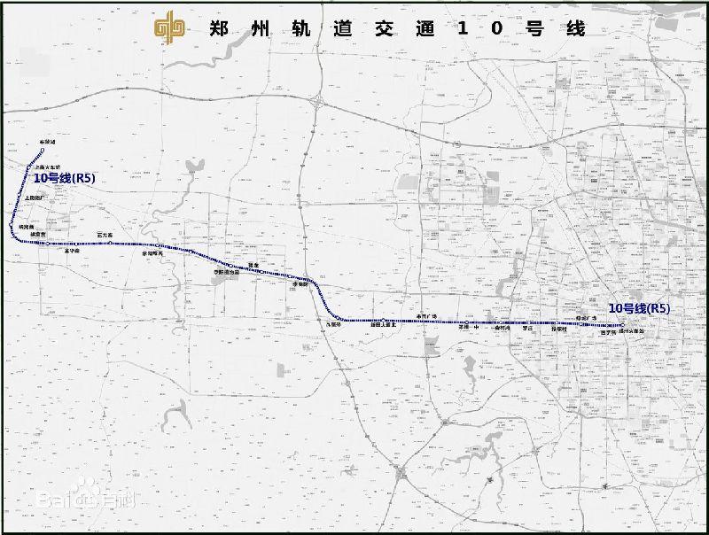 郑州地铁10号线规划图