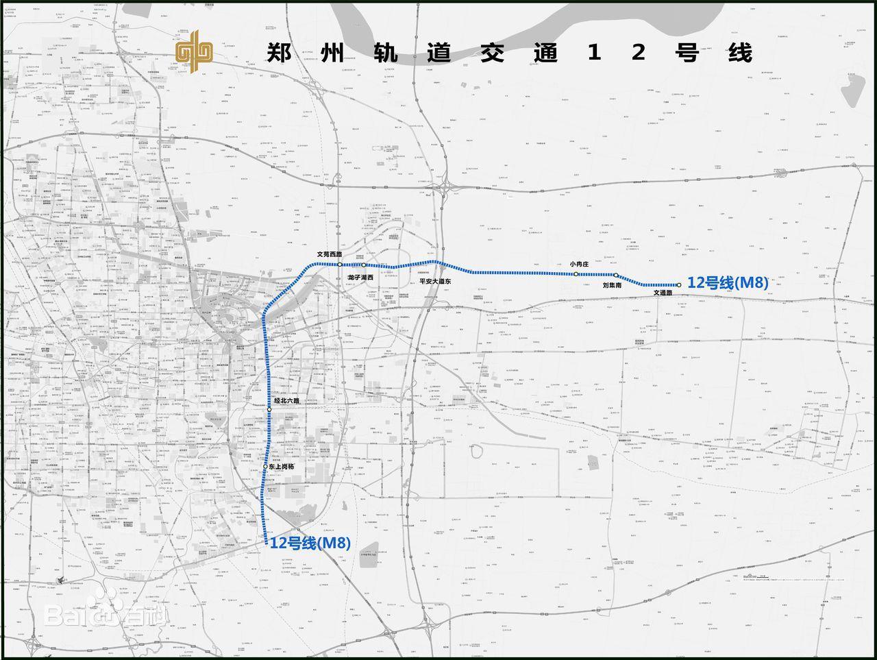 郑州地铁12号线线路图