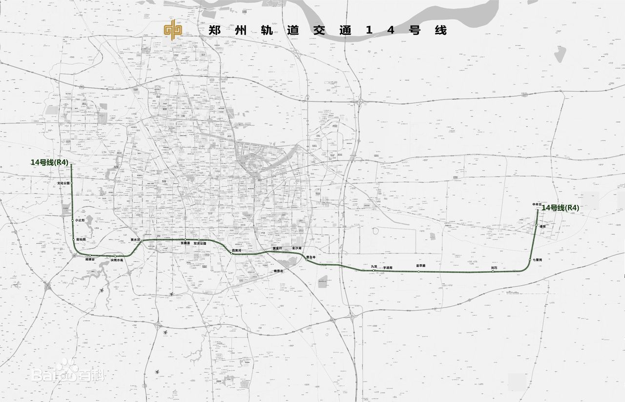 郑州地铁14号线线路图