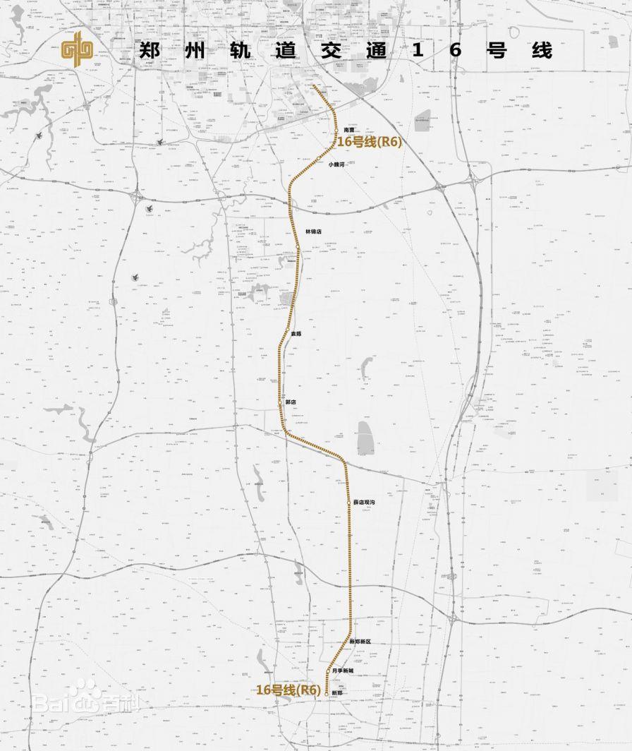 郑州地铁16号线线路图