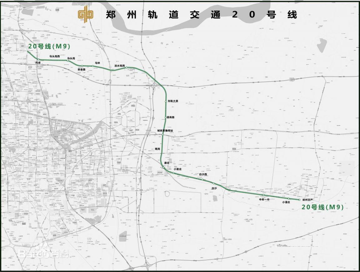 郑州地铁20号线线路图